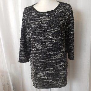 Liz Claiborne Long Sleeve Pullover Kangaroo Pockets Sweater Top